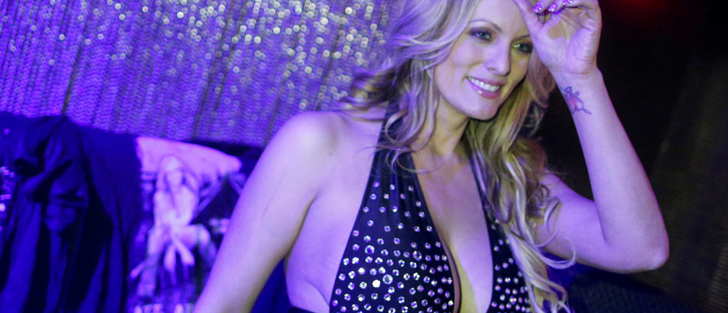 FILE PHOTO: Adult-film actress Stephanie Clifford, also known as Stormy Daniels, poses for pictures at the end of her striptease show in Gossip Gentleman club in Long Island, New York, U.S., February 23, 2018. REUTERS/Eduardo Munoz/File Photo | Stormy Poised To Tell All To '60 Minutes'