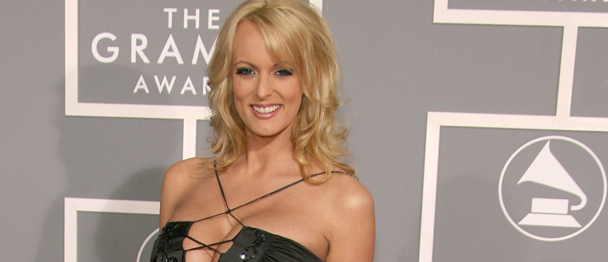 LOS ANGELES, CA - FEBRUARY 11:  Actress Stormy Daniels arrives at the 49th Annual Grammy Awards at the Staples Center on February 11, 2007 in Los Angeles, California.  (Photo by Frazer Harrison/Getty Images)