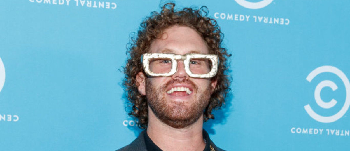 LOS ANGELES, CA - MAY 23: Comedian T.J. Miller of 'The Gorburger Show' attends the Comedy Central Press Day on May 23, 2017 in Los Angeles, California. (Photo by Rich Polk/Getty Images for Comedy Central)