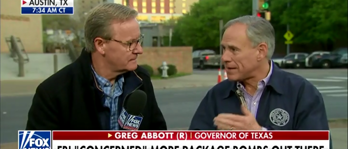 Texas Gov. Greg Abbott Urges Citizens To Remain 'Vigilant' For More Bombs - Fox & Friends 3-21-18 (Screenshot/Fox News)