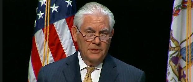 Tillerson Fox News screenshot