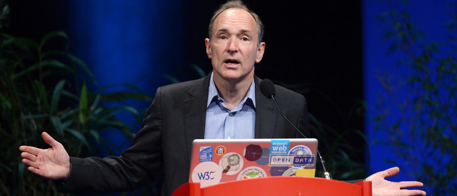 British computer scientist Tim Berners-Lee, the man credited with inventing the world wide web, gives a speech on April 18, 2012 in Lyon, central France, during the World Wide Web 2012 international conference on April 18, 2012 in Lyon. (Photo: PHILIPPE DESMAZES/AFP/Getty Images)