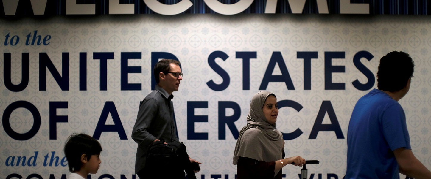 International passengers arrive at Washington Dulles International Airport after the U.S. Supreme Court granted parts of the Trump administration's emergency request to put its travel ban into effect later in the week pending further judicial review, in Dulles, Virginia, U.S., June 26, 2017. REUTERS/James Lawler Duggan/Files | Gov Collect Visa Applicants' Social Media