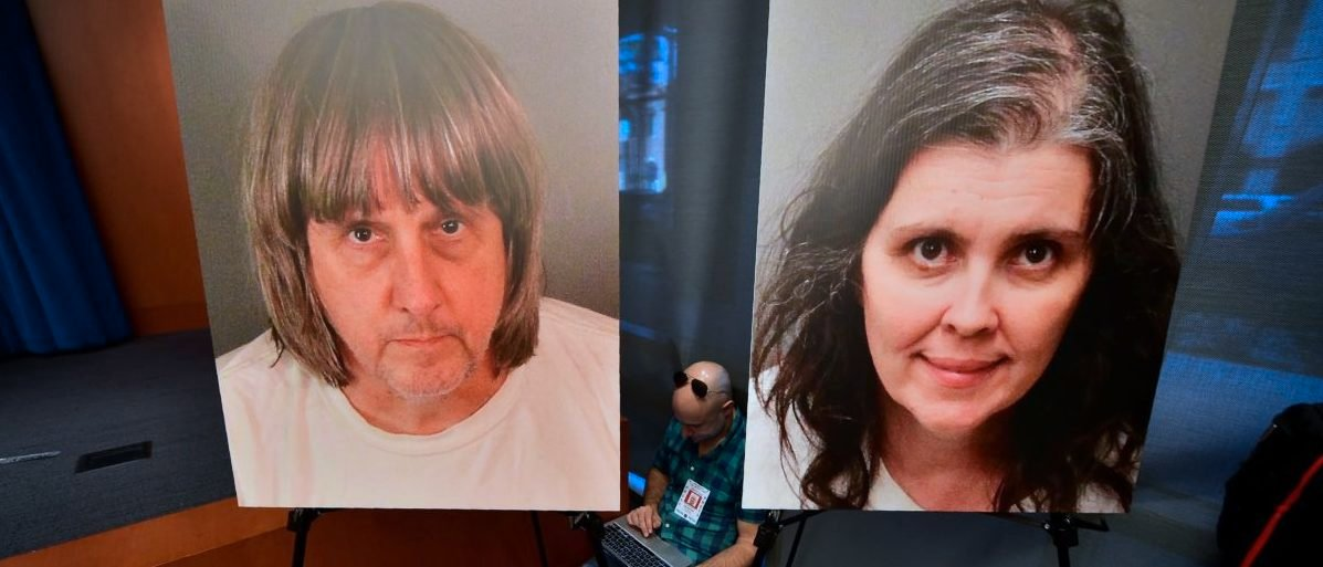 David Allen Turpin, 57, and his wife Louise Anna Turpin, 49 were hit with 12 counts of torture, 12 of false imprisonment, six of child abuse and six of abuse of a dependent adult at a court hearing in the city of Riverside. David Turpin was also charged with committing a lewd act against a child by force or fear or duress, District Attorney Mike Hestrin told a press conference. FREDERIC J. BROWN/AFP/Getty Images