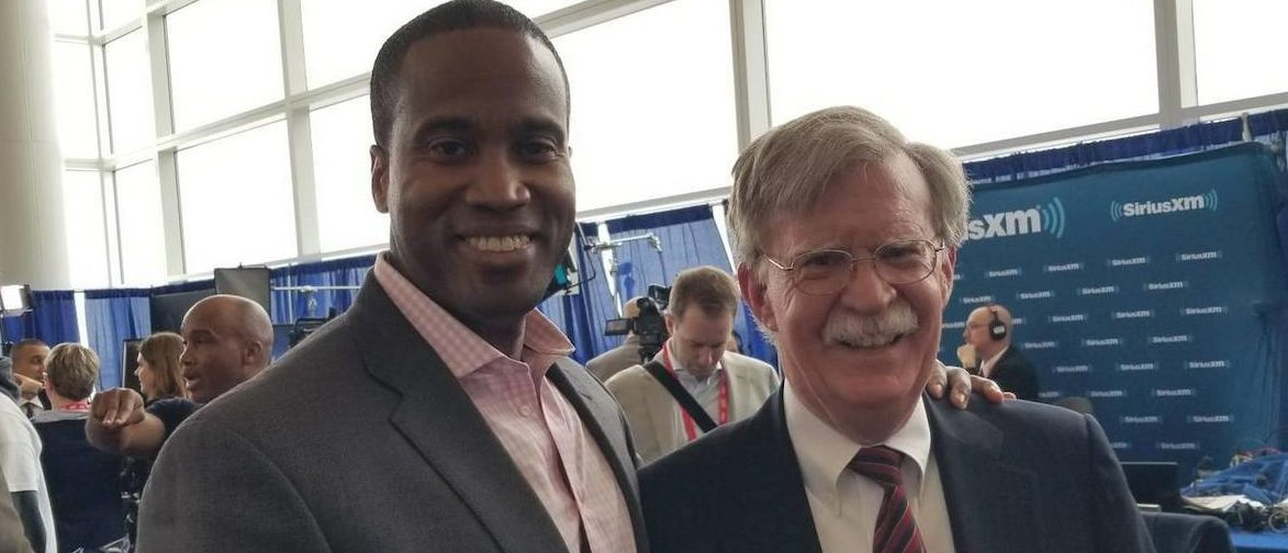 U.S. Senate Candidate John James and John Bolton: Photo Obtained By TheDCNF
