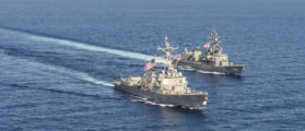 Two US Navy Warships Challenge China's Claims To South China Sea