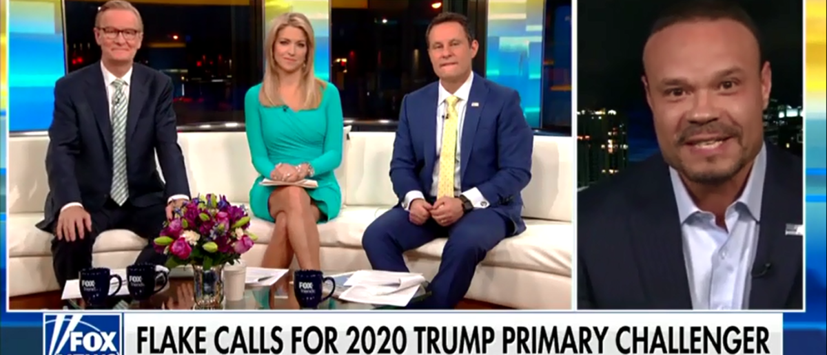 Will Jeff Flake Make A 2020 Run At The White House 'Don't Waste Our Time - Fox & Friends 3-12-18 (Screenshot/Fox News)