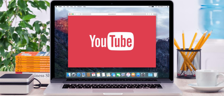YouTube logo on an Apple MacBook Pro screen. [Shutterstock - Alexey Boldin]