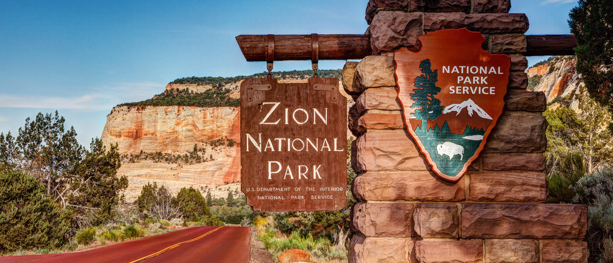 Entrance to Zion National Park in Utah. (Shutterstock/James Marvin Phelps)