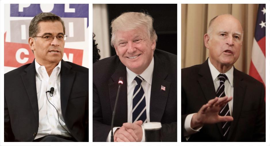 Xavier Becerra Donald Trump Jerry Brown