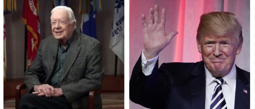Jimmy Carter, Donald Trump (CBS, Getty Images)