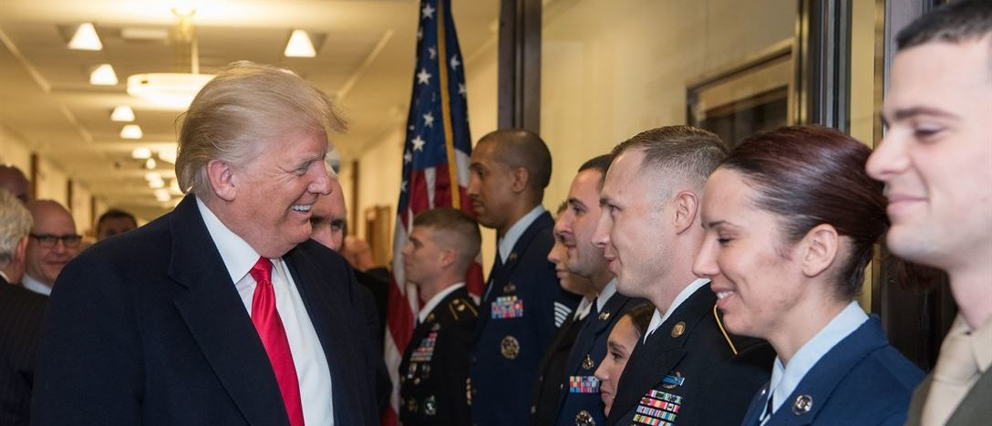 President Donald J. Trump speaks to service members after a meeting at the Pentagon, Jan. 18, 2018. DoD photo by Army Sgt. Amber I. Smit