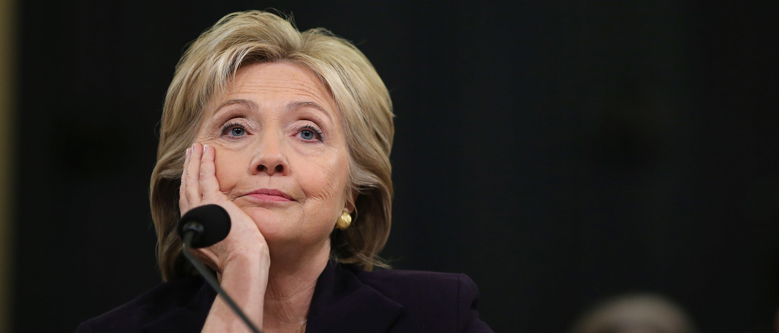 Democratic presidential candidate and former Secretary of State Hillary Clinton testifies before the House Select Committee on Benghazi October 22, 2015 on Capitol Hill in Washington, D.C. (Photo by Chip Somodevilla/Getty Images)