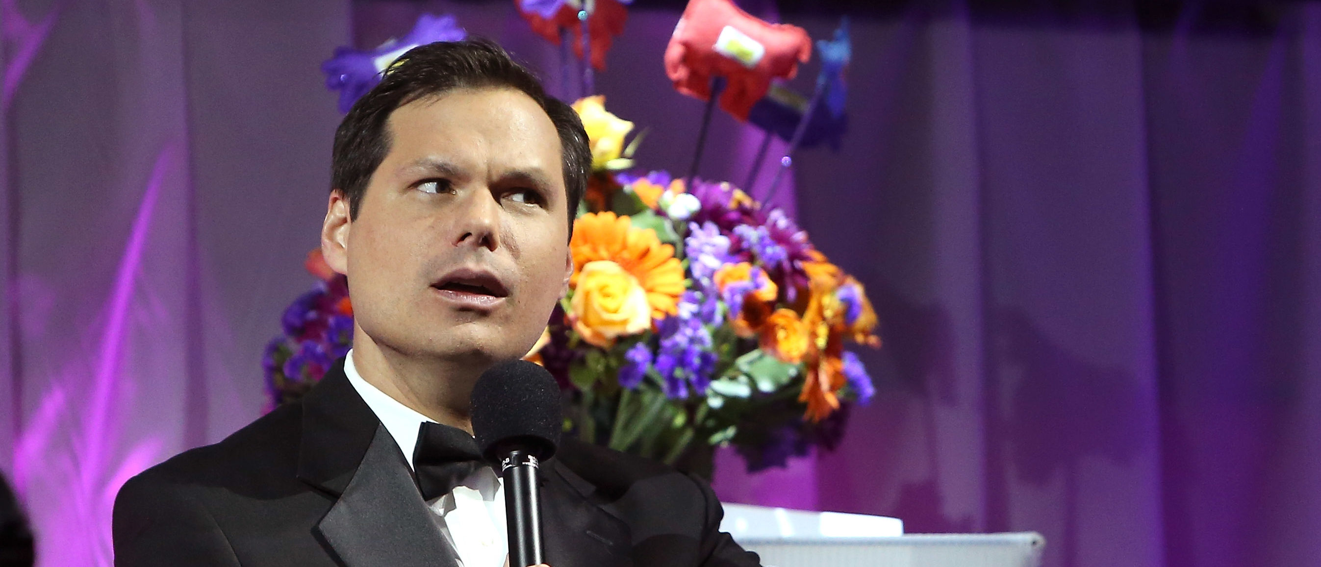 NEW YORK, NY - OCTOBER 15: Host Michael Ian Black speaks during The Friskies 2013 at Arena NYC on October 15, 2013 in New York City. (Photo by Mike Lawrie/Getty Images)