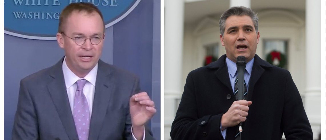 Mick Mulvaney, Jim Acosta (YouTube/Getty Images)