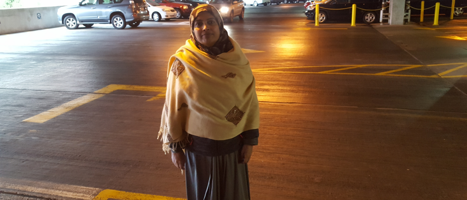 Samina Gilani outside Fairfax County court March 7, 2018 / DCNF photo