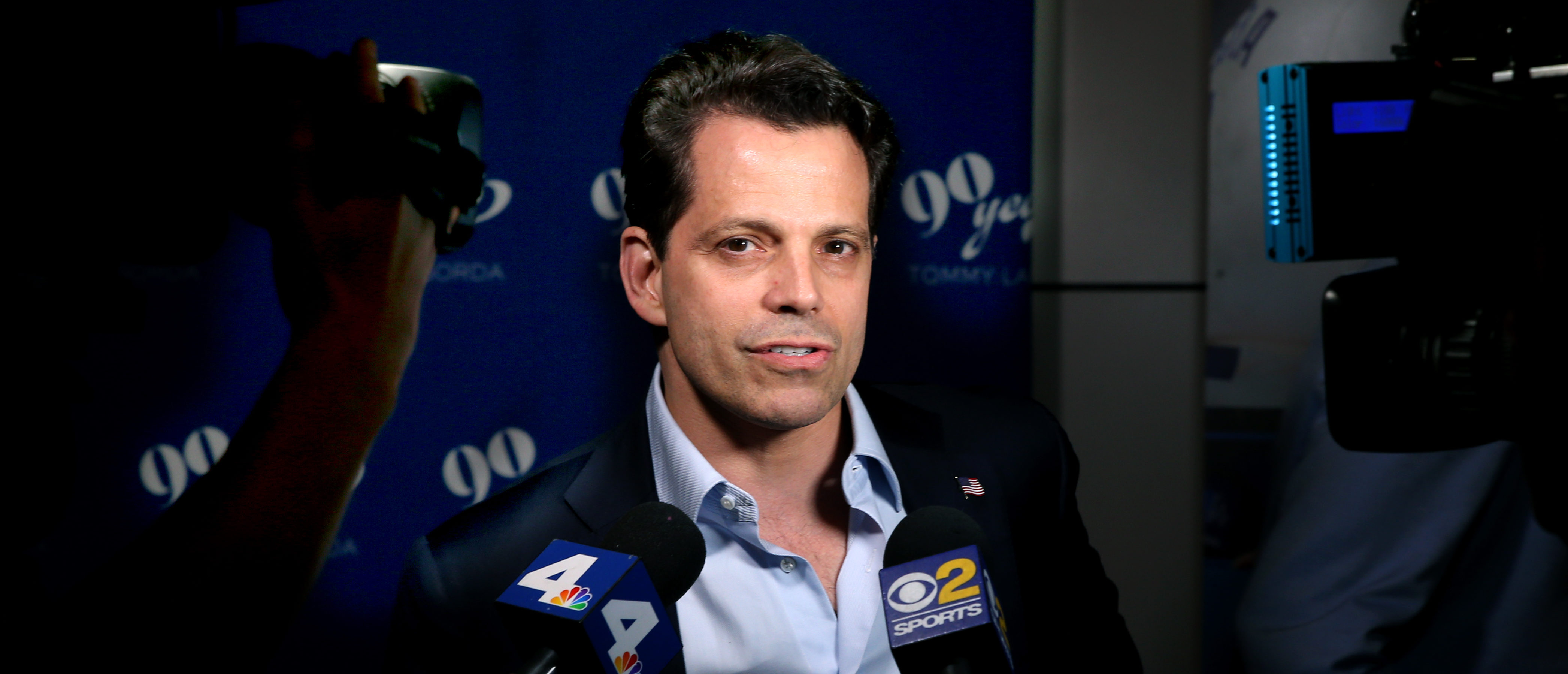 LOS ANGELES, CA - SEPTEMBER 24: Anthony Scaramucci at Tommy Lasorda's 90th Birthday Celebration at The Getty Center on September 24, 2017 in Los Angeles, California. (Photo by Phillip Faraone/Getty Images for Tommy Lasorda)