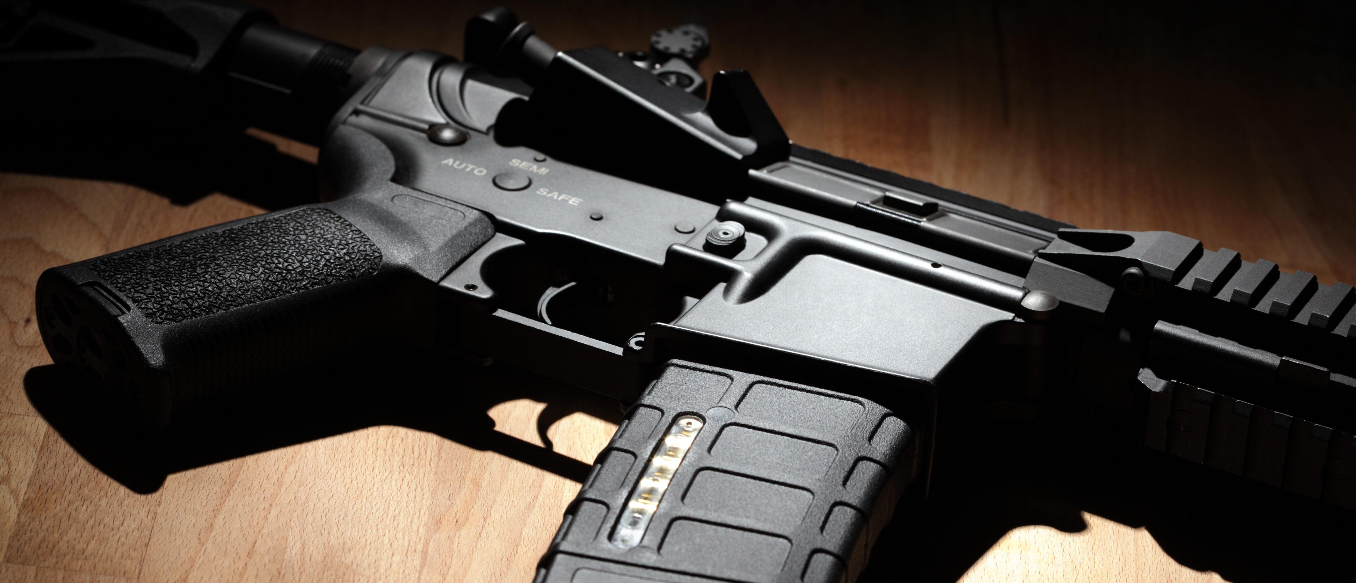 Civilian .223 caliber semi-automatic rifle (shutterstock)