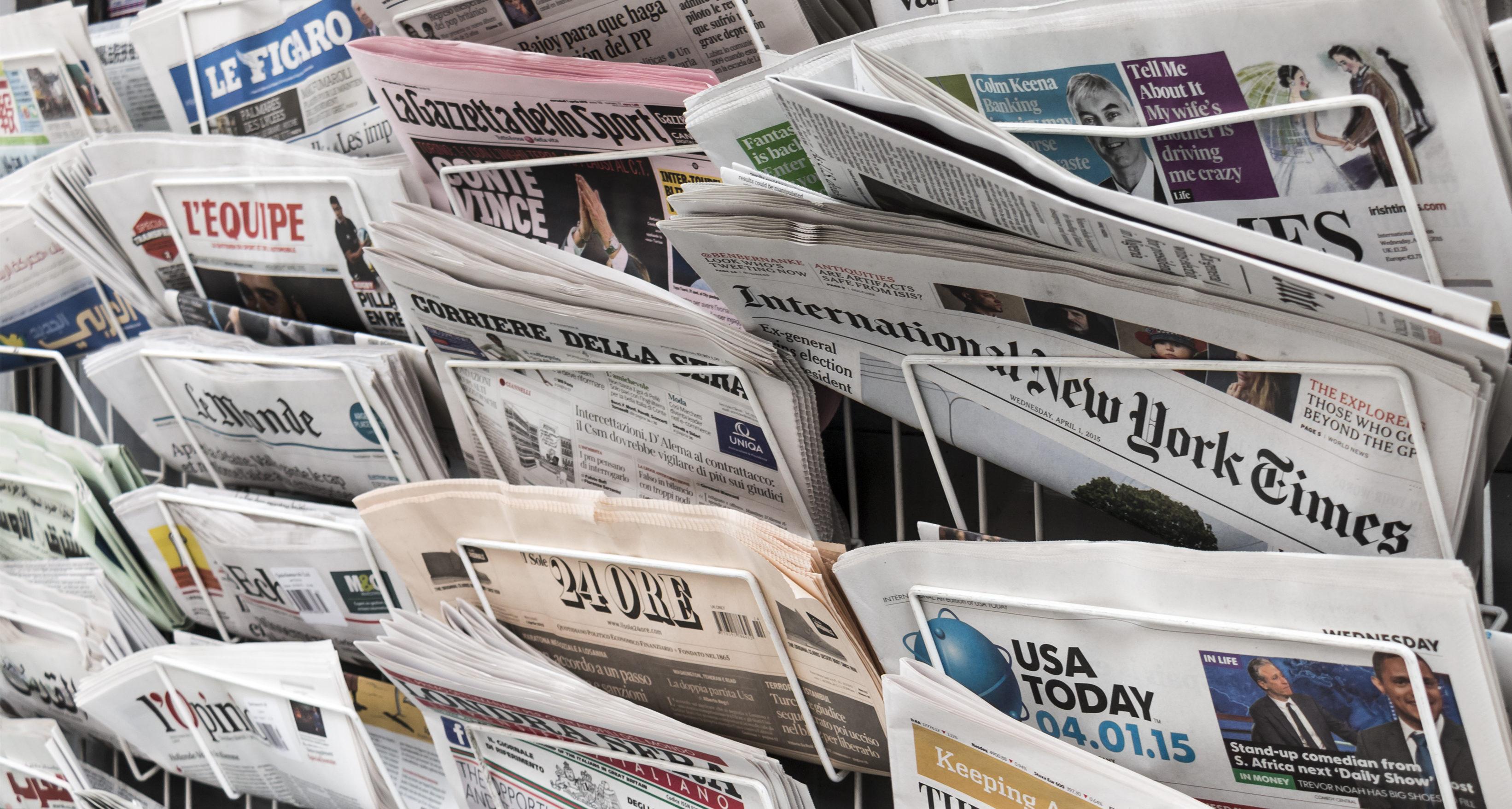 Newspaper stand, Shutterstock