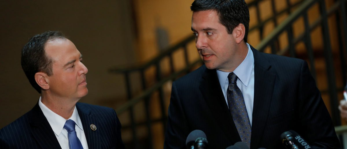 House Permanent Select Committee on Intelligence Chairman Rep. Devin Nunes, right, and Ranking Member Rep. Adam Schiff. (REUTERS/Aaron P. Bernstein)