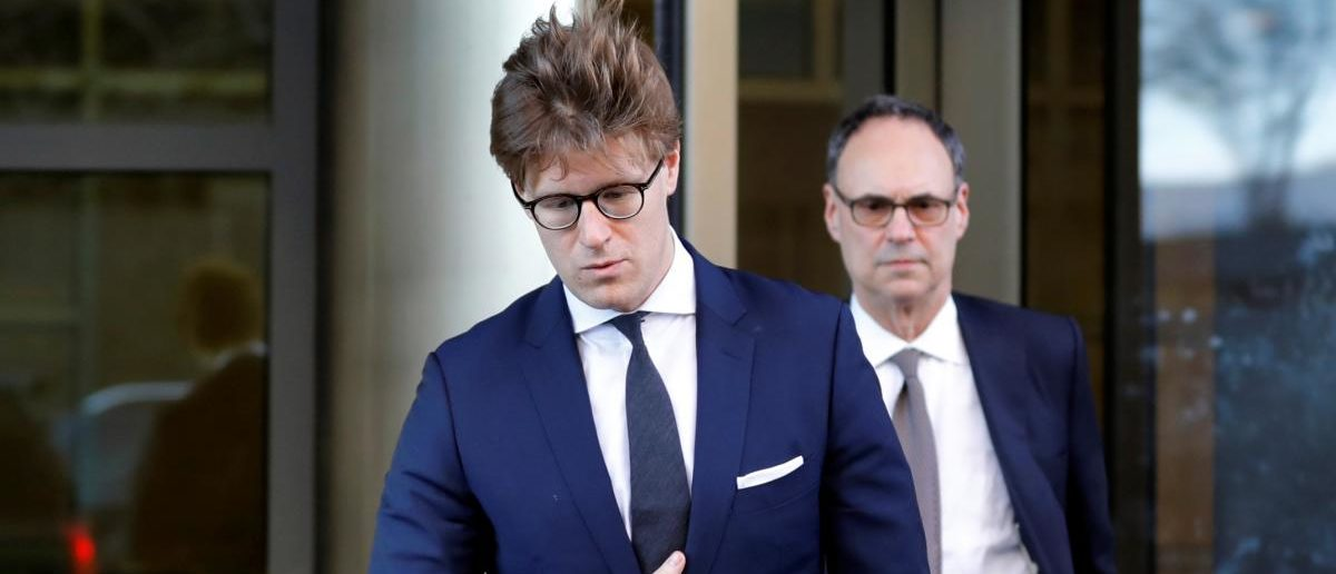 Alex van der Zwaan leaves after a plea agreement hearing at the D.C. federal courthouse in Washington, U.S., February 20, 2018. REUTERS/Yuri Gripas