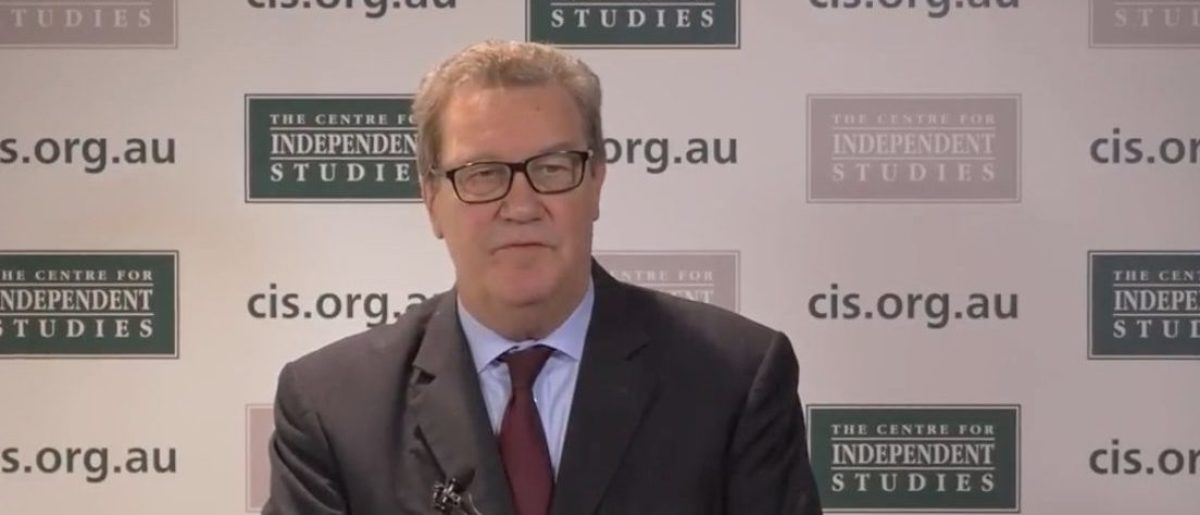 Alexander Downer, the former Australian High Commissioner to the United Kingdom. (YouTube screen capture/CISAus)