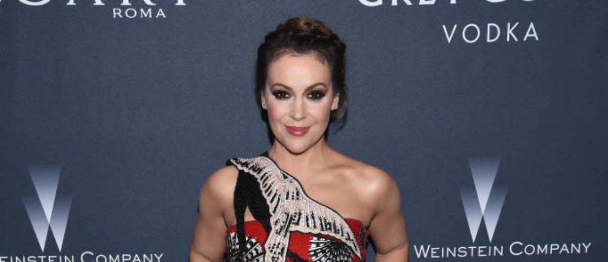 BEVERLY HILLS, CA - FEBRUARY 25: Actress Alyssa Milano attends The Weinstein Company's Pre-Oscar Dinner in partnership with Bvlgari and Grey Goose at Montage Beverly Hills on February 25, 2017 in Beverly Hills, California. (Photo by Dimitrios Kambouris/Getty Images for The Weinstein Company)
