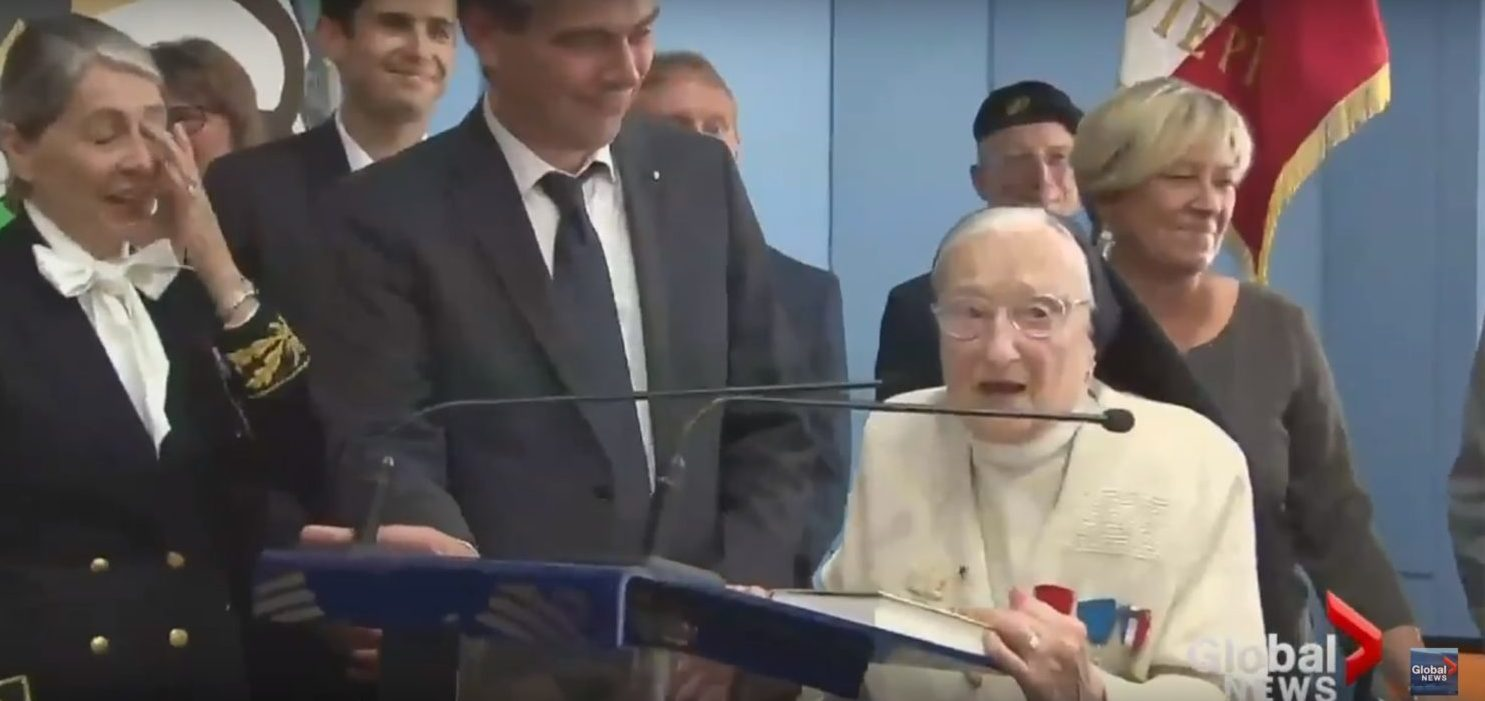 Sister Agnès-Marie Valois, The Angel Of Dieppe (Youtube screenshot/Global News)