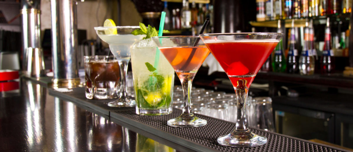 Five cocktails on the bar counter (SHUTTERSTOCK: By Cristi Lucaci)