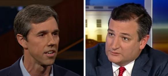 Beto O'Rourke Ted Cruz (screengrabs)