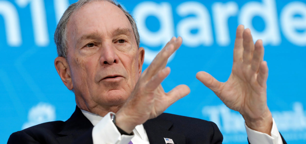 Michael Bloomberg speaks during One-on-One discussion panel with IMF Managing Director Lagarde