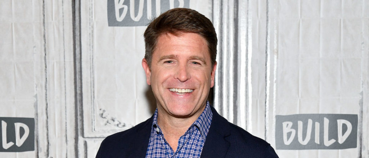 "NEW YORK, NY - JUNE 27:  Brad Thor visits Build to discuss his book ""Use of Force"" at Build Studio on June 27, 2017 in New York City.  (Photo by Dia Dipasupil/Getty Images)"