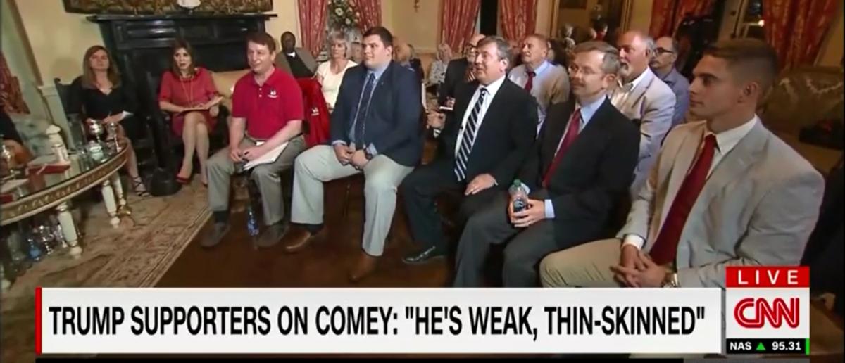 CNN Hosts Trump Supporters For Focus Group On Comey Interview - CNN Newsroom 4-17-18 (Screenshot/CNN)