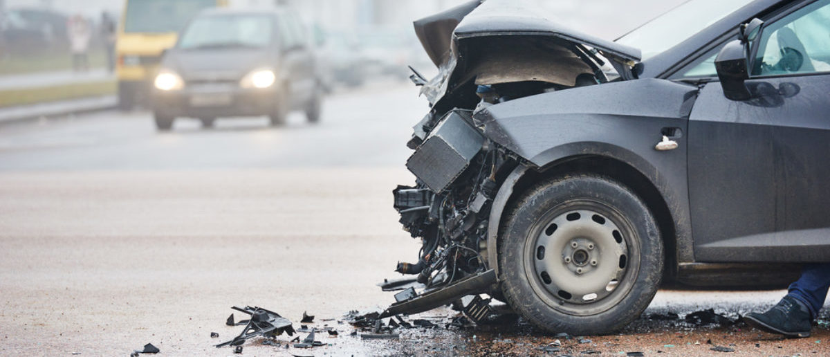 car crash accident on street, damaged automobiles after collision in city (SHUTTERSTOCK: By Dmitry Kalinovsky)