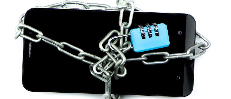 A smartphone with a padlock. [Shutterstock - namtipStudio]