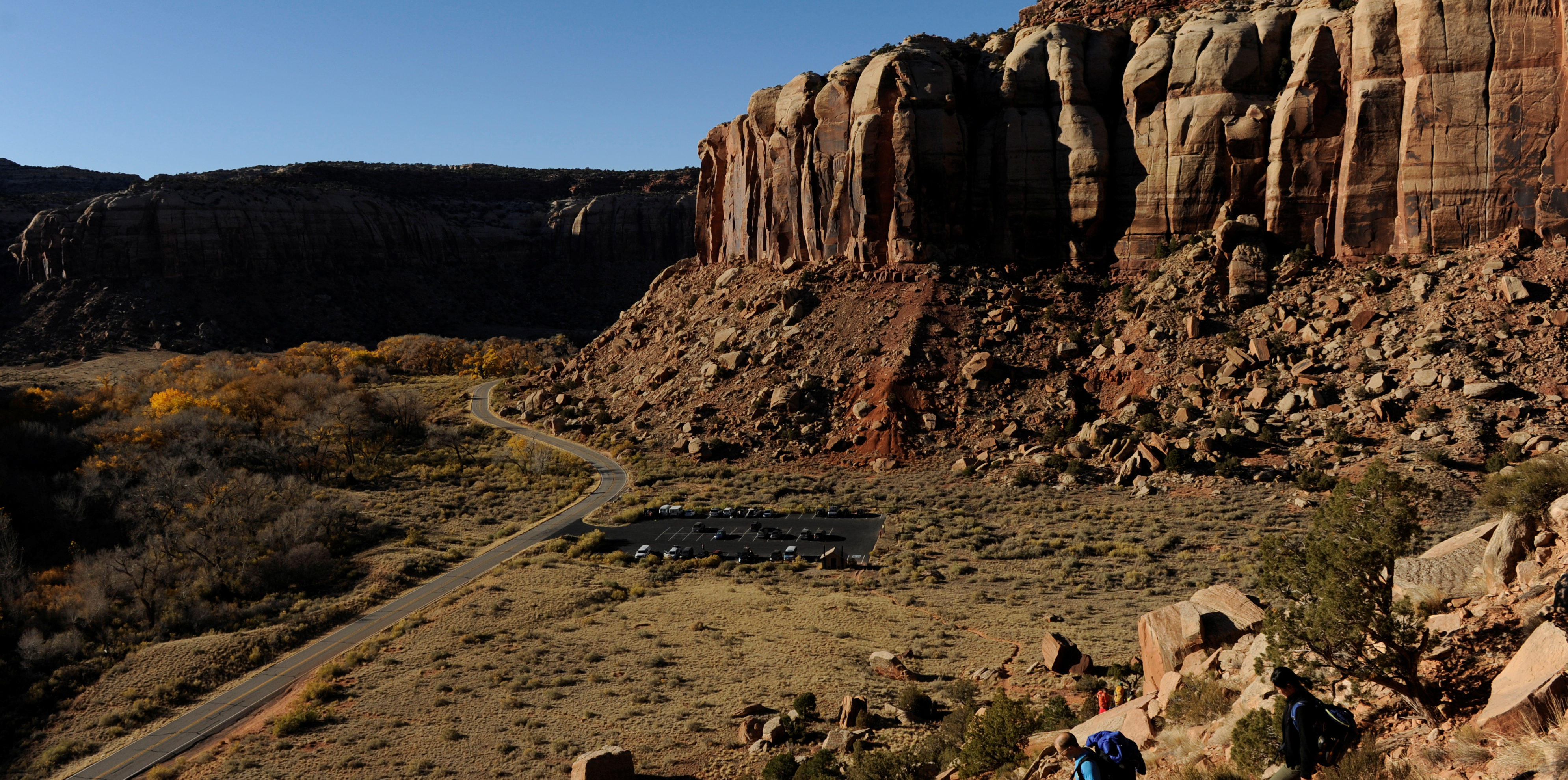 Rock formations at the Indian Creek area in Bears Ears National Monument, New Mexico, U.S., October 29, 2017. REUTERS/Andrew Cullen