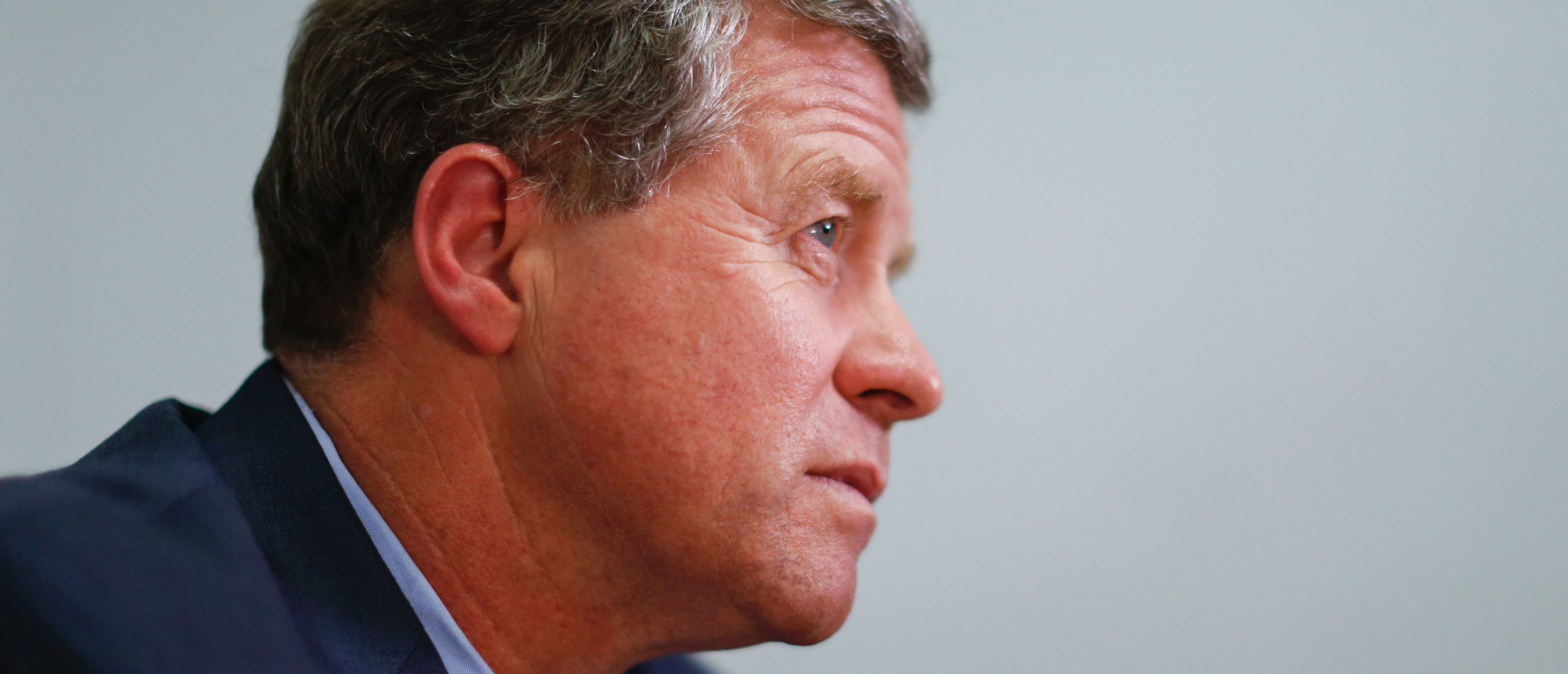 Republican Congressman Charlie Dent speaks during an interview at his campaign office in Allentown, Pennsylvania on November 2, 2016. / AFP / EDUARDO MUNOZ ALVAREZ (Photo credit should read EDUARDO MUNOZ ALVAREZ/AFP/Getty Images)