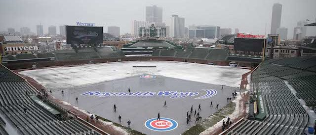 Apr 9, 2018; Chicago, IL, USA; A general shot of Wrigley Field prior to a game between the Chicago Cubs and the Pittsburgh Pirates. Mandatory Credit: Dennis Wierzbicki-USA TODAY Sports - 10778286