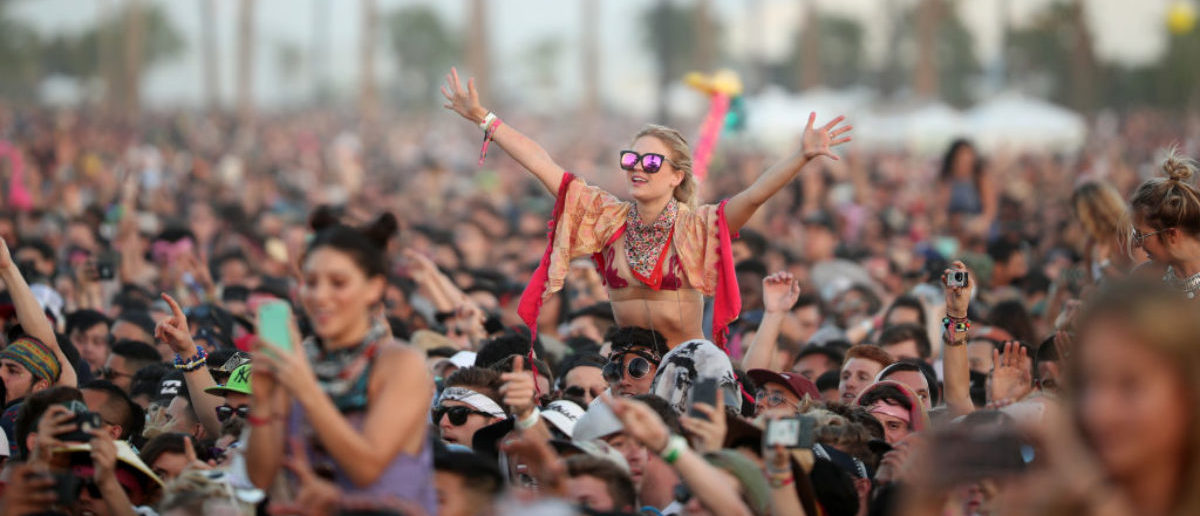 Festivalgoers attend day 3 of the 2017 Coachella Valley Music & Arts Festival (Weekend 2) at the Empire Polo Club on April 23, 2017 in Indio, California.  (Photo by Christopher Polk/Getty Images for Coachella)