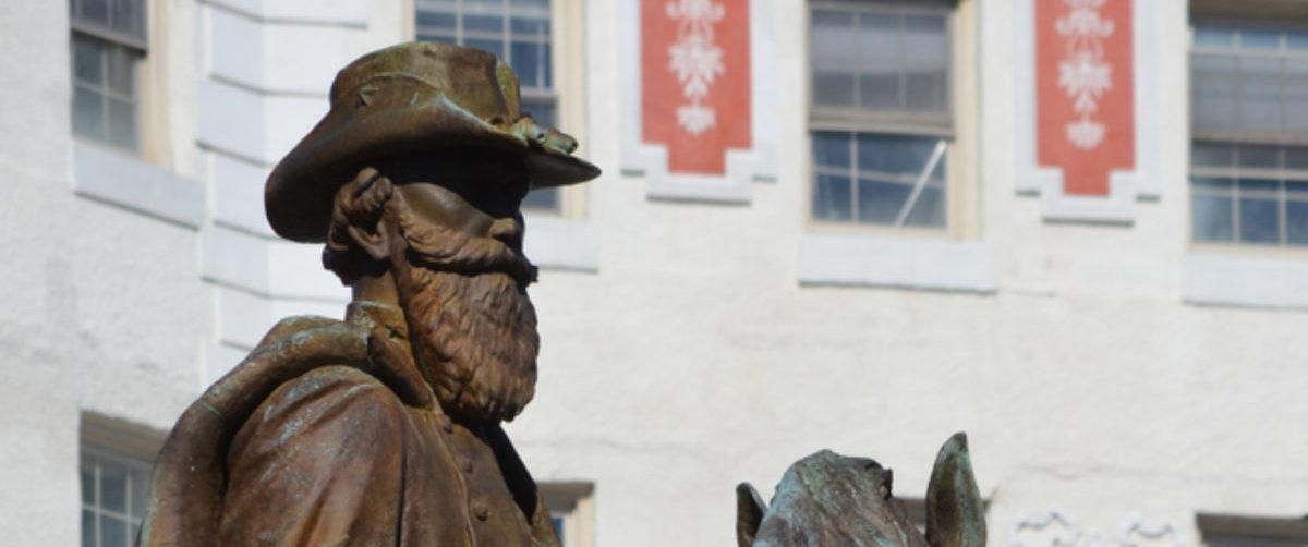 Pictured is a statue of J.E.B. Stuart. (Shutterstock/Lisa Girdley)