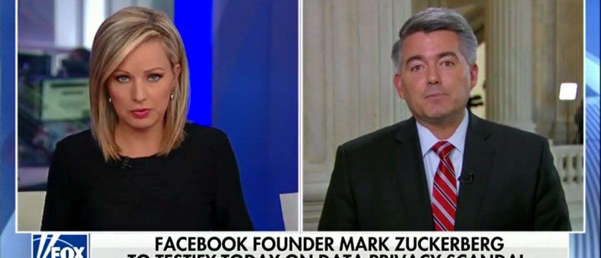 Cory Gardner Fears Zuckerberg Hearings Could Lead To Government Regulation Of The Internet - America's Newsroom 4-10-18