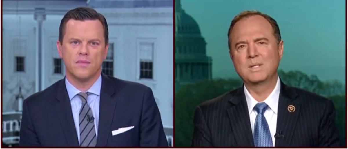 "Democratic Rep. Adam Schiff of California said the secret meeting between CIA Director Mike Pompeo and the North Korean regime is ""good news for diplomacy."" (Photo: Screenshot/MSNBC)"
