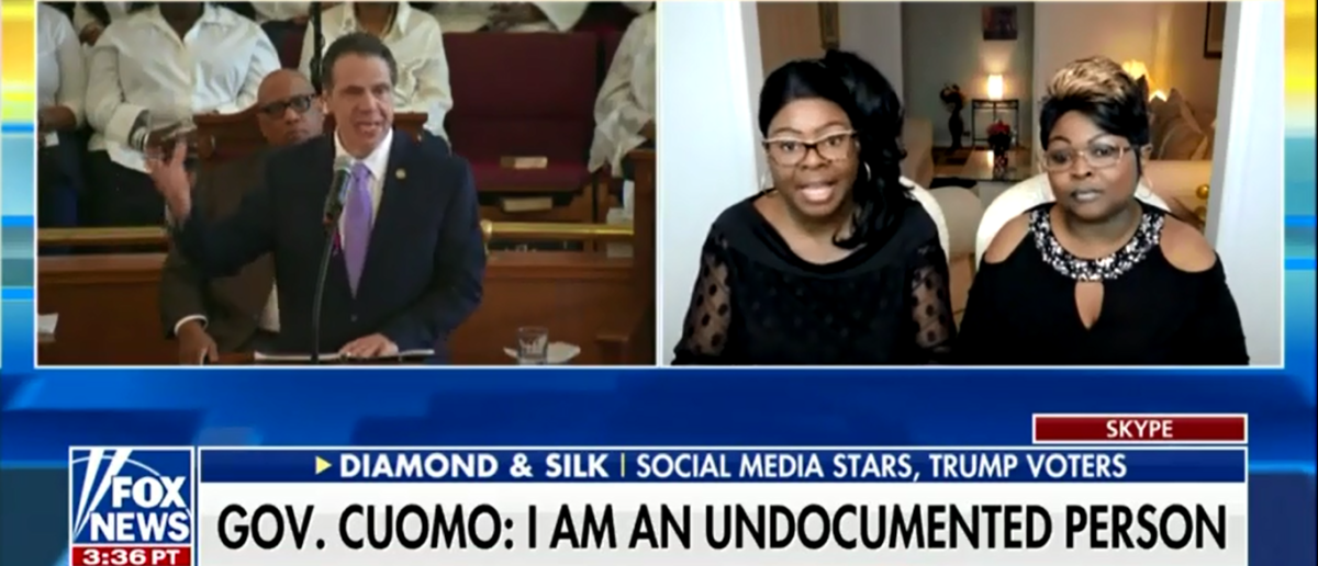 Diamond And Silk Mock NY Gov. Andrew Cuomo's Immigration Policy - Fox & Friends 4-20-18 (Screenshot/Fox News)