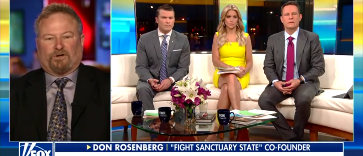 Don Rosenberg Announces Ballot Initiative To Fight California's Sanctuary State - Fox & Friends 4-4-18
