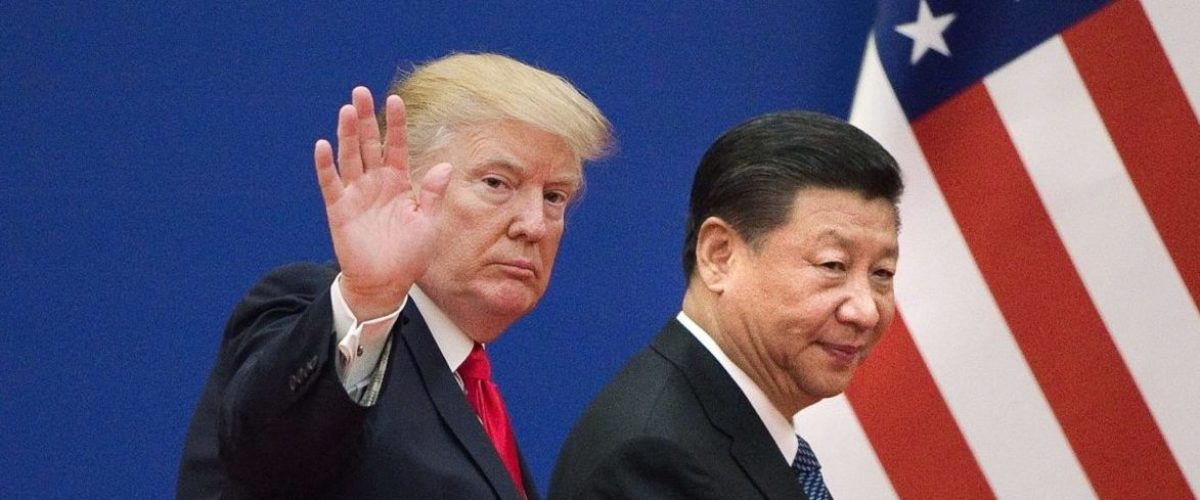 """US President Donald Trump (L) and China's President Xi Jinping leave a business leaders event at the Great Hall of the People in Beijing on November 9, 2017. Donald Trump urged Chinese leader Xi Jinping to work """"hard"""" and act fast to help resolve the North Korean nuclear crisis, during their meeting in Beijing on November 9, warning that """"time is quickly running out"""". (Photo: NICOLAS ASFOURI/AFP/Getty Images)"""