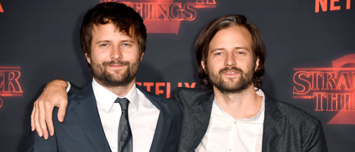 """LOS ANGELES, CA - OCTOBER 26: Creators Ross Duffer (L) and Matt Duffer attend the premiere of Netflix's """"Stranger Things"""" Season 2 at Regency Bruin Theatre on October 26, 2017 in Los Angeles, California. (Photo by Frazer Harrison/Getty Images)"""