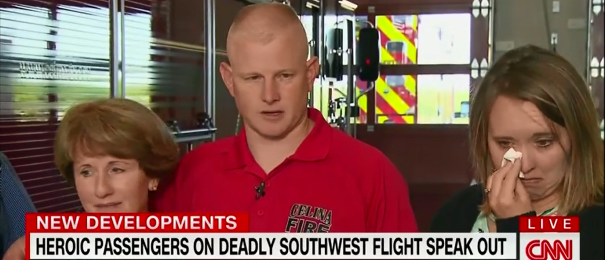 Firefighter Who Tried To Save Southwest Passenger Says He Was Inspired By God -CNN New Day 4-20-18