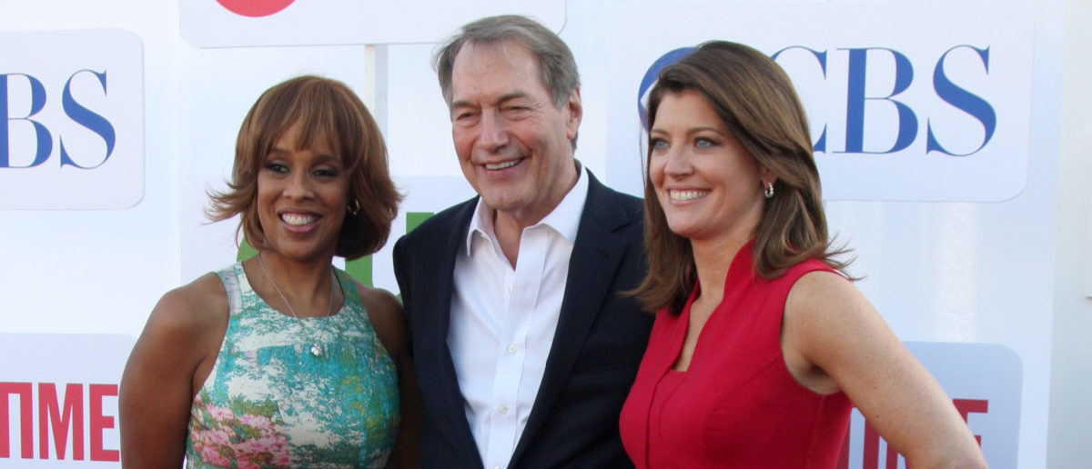Gayle King, Charlie Rose, Norah O'Donnell arrives at the CBS, CW, and Showtime 2012 Summer TCA party at Beverly Hilton Hotel Parking Lot -- ShutterStock - Kathy Hutchins | CBS Collapsing Over Charlie Rose Expose