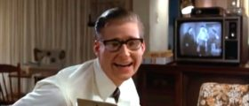 George McFly at the beginning of 'Back to the Future' YouTube screenshot/moviequotescentral