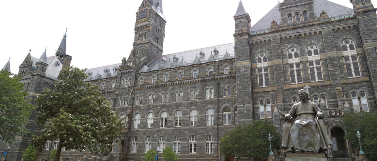 WASHINGTON, DC - 21 JUN: Georgetown University in Washington, DC, the United States on June 21, 2017. (Shutterstock/DavidNNP)